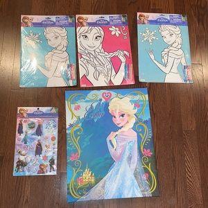 NWT Bundle of Frozen art pieces